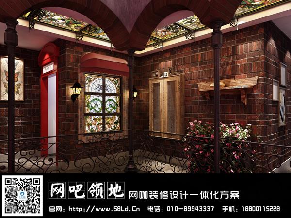 """[转载]广东""""某""""网咖装修设计效果图——欧式复古混搭"""